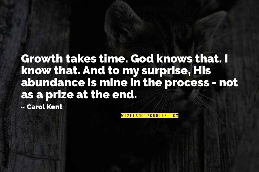 God Knows Quotes By Carol Kent: Growth takes time. God knows that. I know