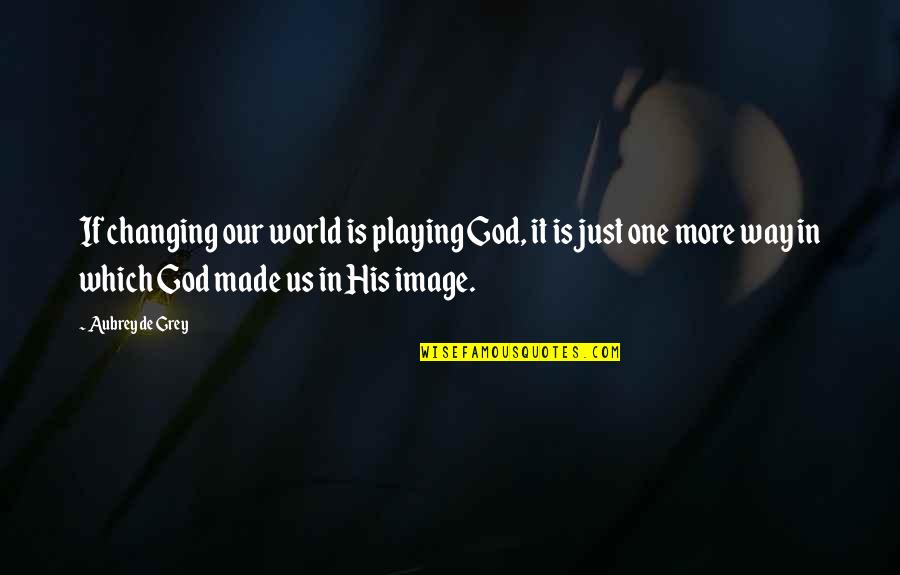 God Made Us Quotes By Aubrey De Grey: If changing our world is playing God, it