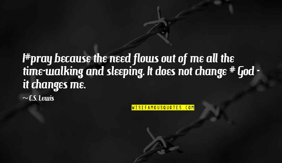 God Pray Quotes By C.S. Lewis: I#pray because the need flows out of me