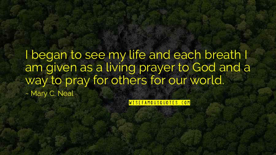 God Pray Quotes By Mary C. Neal: I began to see my life and each