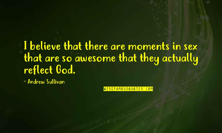 God You Are Awesome Quotes By Andrew Sullivan: I believe that there are moments in sex