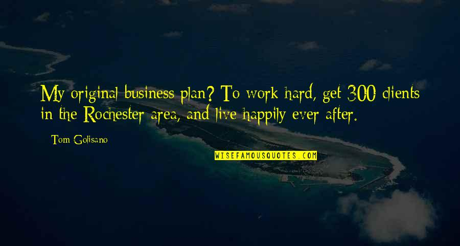 Goddess Of War Quotes By Tom Golisano: My original business plan? To work hard, get