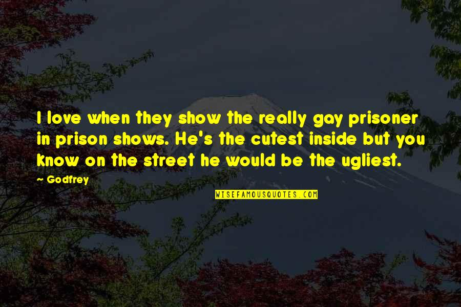 Godfrey Quotes By Godfrey: I love when they show the really gay