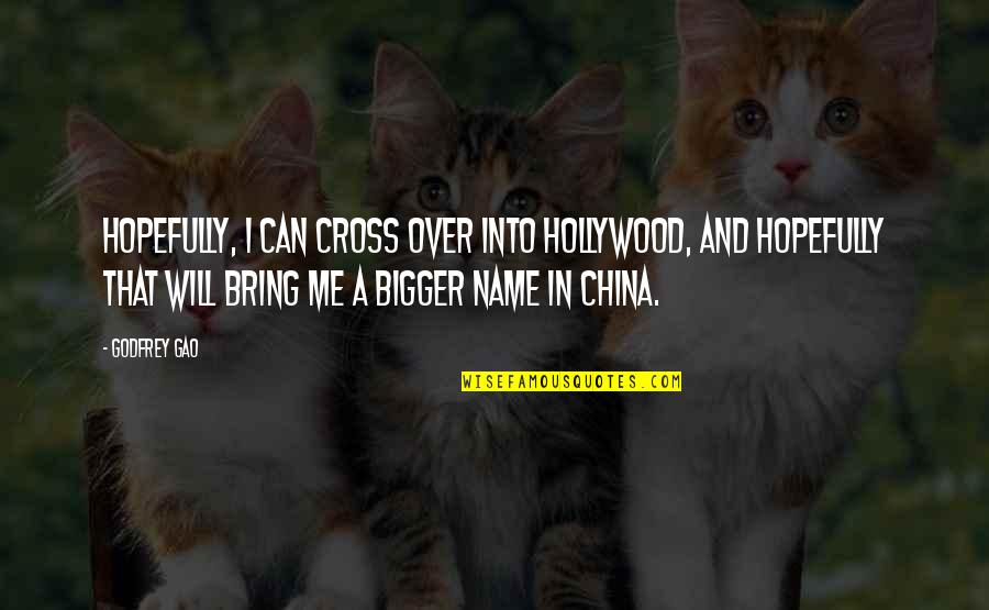 Godfrey Quotes By Godfrey Gao: Hopefully, I can cross over into Hollywood, and