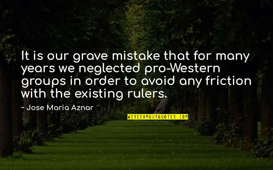 Godliest Quotes By Jose Maria Aznar: It is our grave mistake that for many