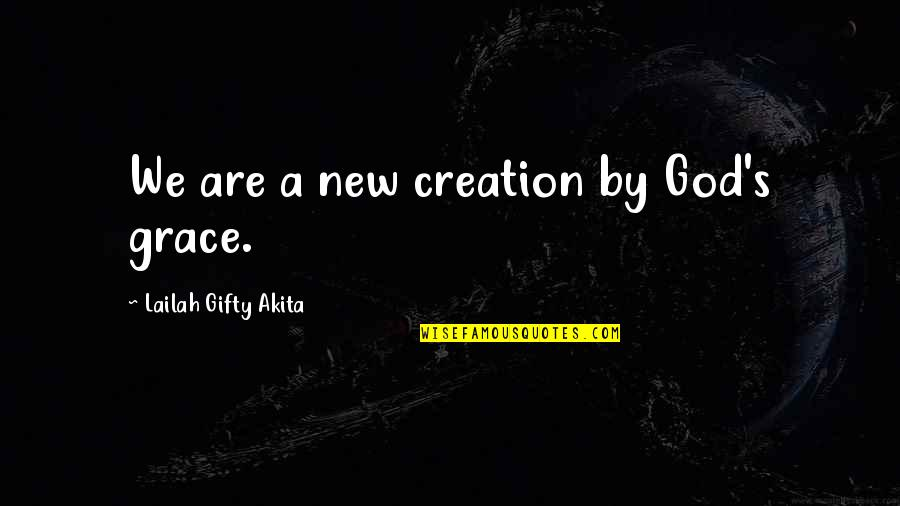 God's Creation Quotes By Lailah Gifty Akita: We are a new creation by God's grace.
