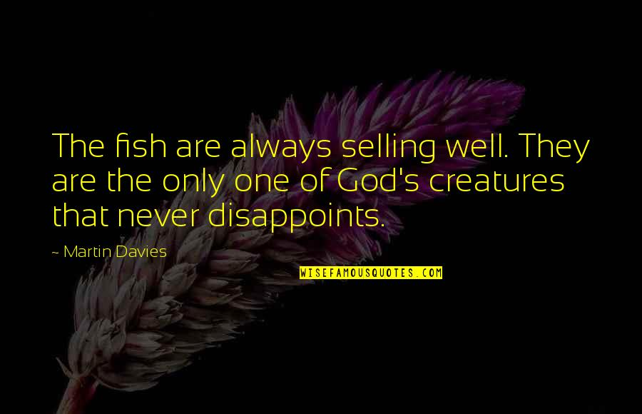 God's Creation Quotes By Martin Davies: The fish are always selling well. They are