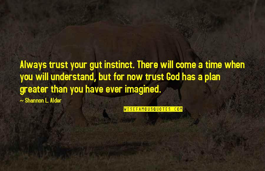God's Greater Plan Quotes By Shannon L. Alder: Always trust your gut instinct. There will come