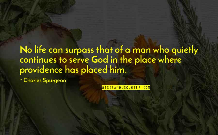 God's Providence Quotes By Charles Spurgeon: No life can surpass that of a man