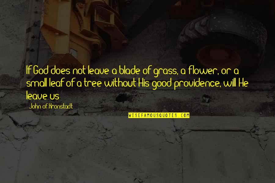 God's Providence Quotes By John Of Kronstadt: If God does not leave a blade of