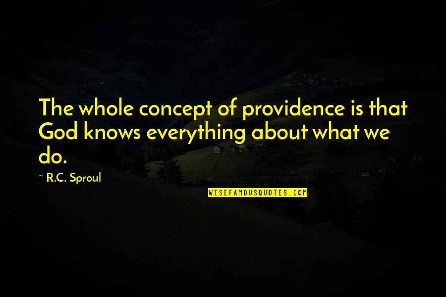 God's Providence Quotes By R.C. Sproul: The whole concept of providence is that God