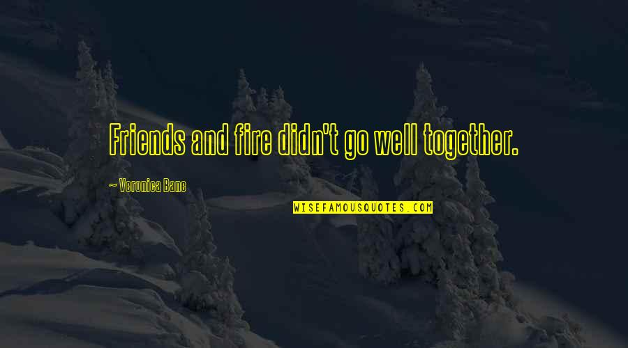 Gogos Quotes By Veronica Bane: Friends and fire didn't go well together.