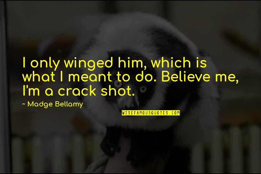 Going Down Swinging Quotes By Madge Bellamy: I only winged him, which is what I