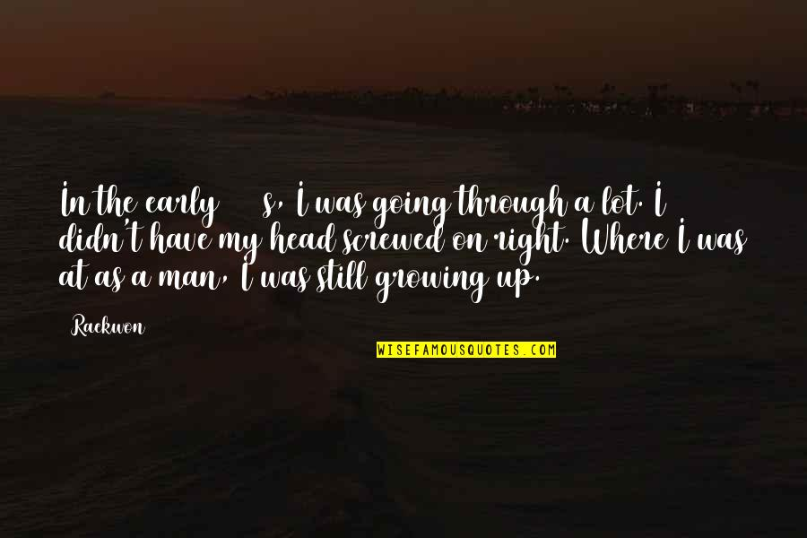 Going Growing Up Quotes By Raekwon: In the early 2000s, I was going through