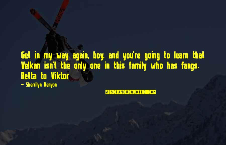 Going My Way Quotes By Sherrilyn Kenyon: Get in my way again, boy, and you're