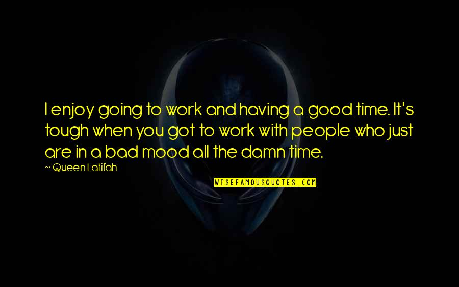 Going Out And Having A Good Time Quotes By Queen Latifah: I enjoy going to work and having a
