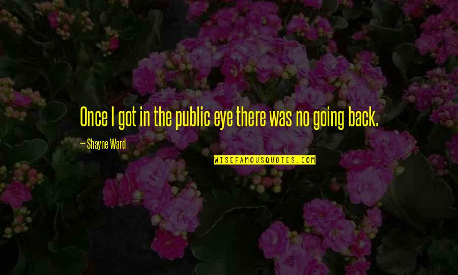 Going Public Quotes By Shayne Ward: Once I got in the public eye there
