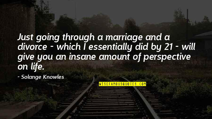 Going Through Life Quotes By Solange Knowles: Just going through a marriage and a divorce