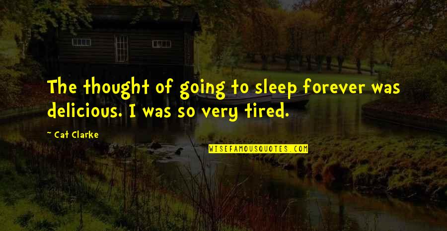 Going To Sleep Quotes By Cat Clarke: The thought of going to sleep forever was