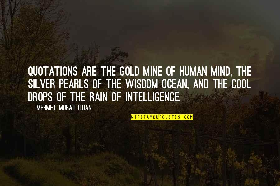 Gold And Silver Quotes By Mehmet Murat Ildan: Quotations are the gold mine of human mind,