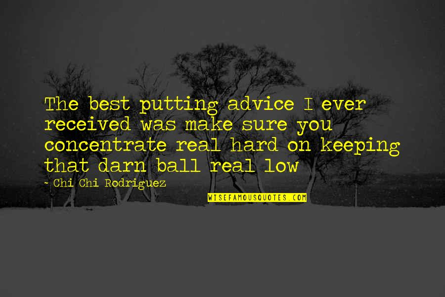 Golf Ball Quotes By Chi Chi Rodriguez: The best putting advice I ever received was