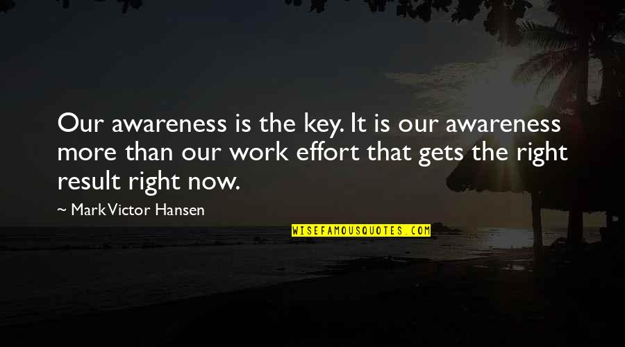 Golf Follow Through Quotes By Mark Victor Hansen: Our awareness is the key. It is our