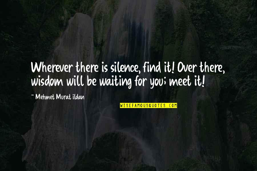 Golf Follow Through Quotes By Mehmet Murat Ildan: Wherever there is silence, find it! Over there,