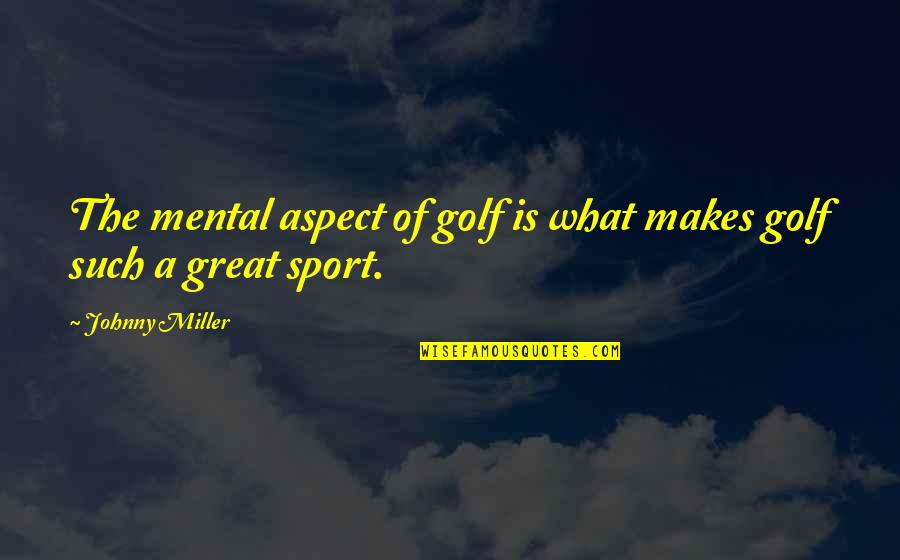 Golf Is Mental Quotes By Johnny Miller: The mental aspect of golf is what makes