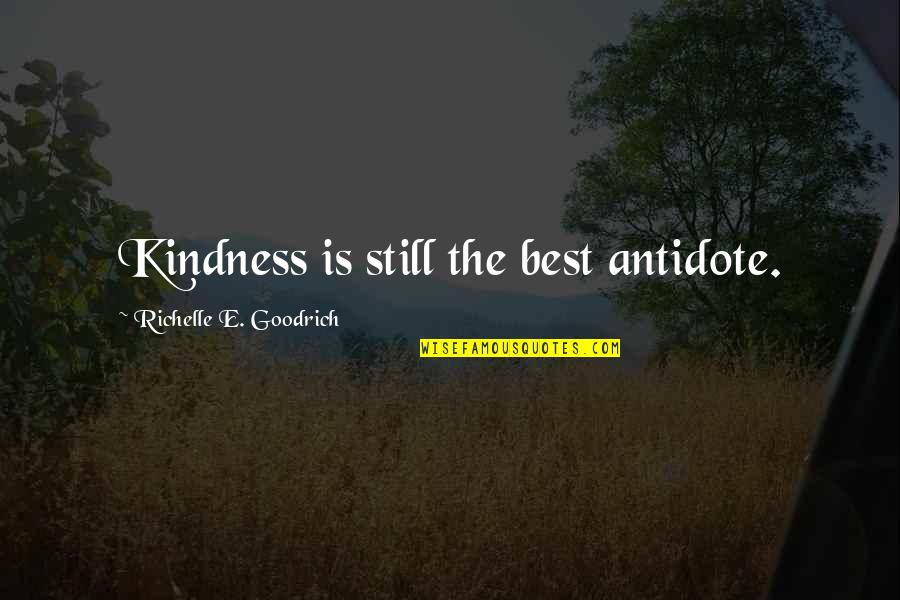 Good Charity Quotes By Richelle E. Goodrich: Kindness is still the best antidote.
