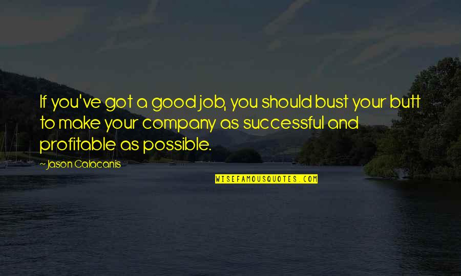 Good Company Quotes By Jason Calacanis: If you've got a good job, you should