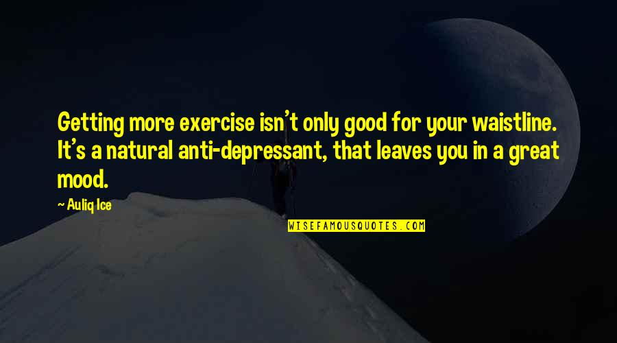 Good Exercise Quotes By Auliq Ice: Getting more exercise isn't only good for your