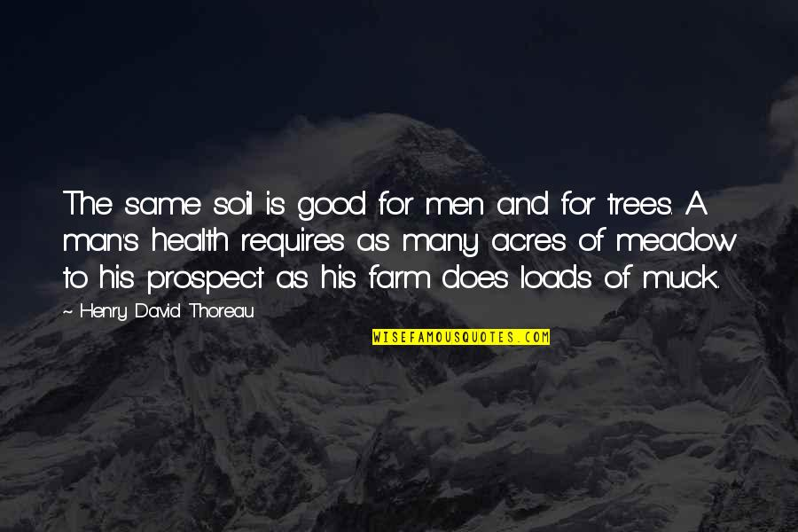 Good For Health Quotes By Henry David Thoreau: The same soil is good for men and