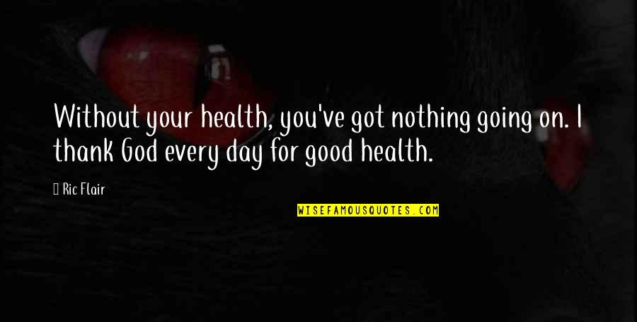 Good For Health Quotes By Ric Flair: Without your health, you've got nothing going on.