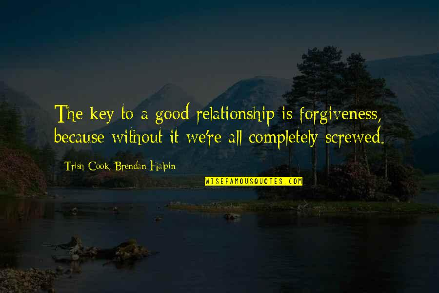 Good Forgiveness Quotes By Trish Cook, Brendan Halpin: The key to a good relationship is forgiveness,