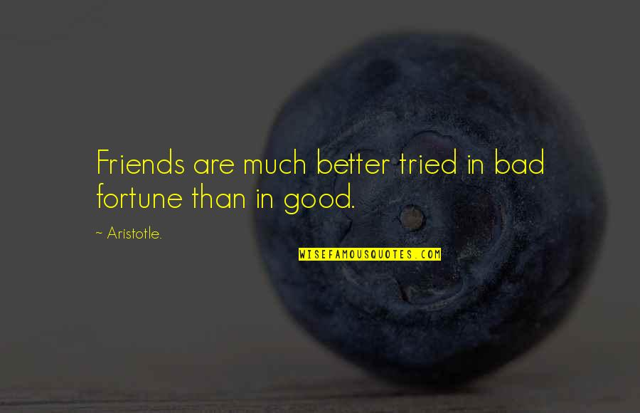 Good Friends Are Quotes By Aristotle.: Friends are much better tried in bad fortune