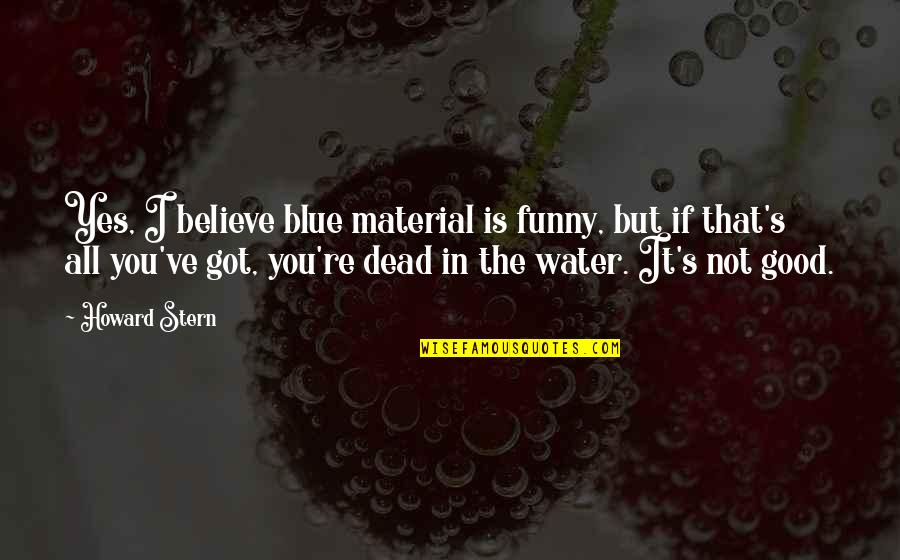 Good Funny Quotes By Howard Stern: Yes, I believe blue material is funny, but