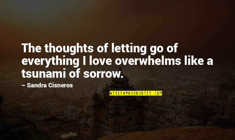 Good Harvey Penick Quotes By Sandra Cisneros: The thoughts of letting go of everything I