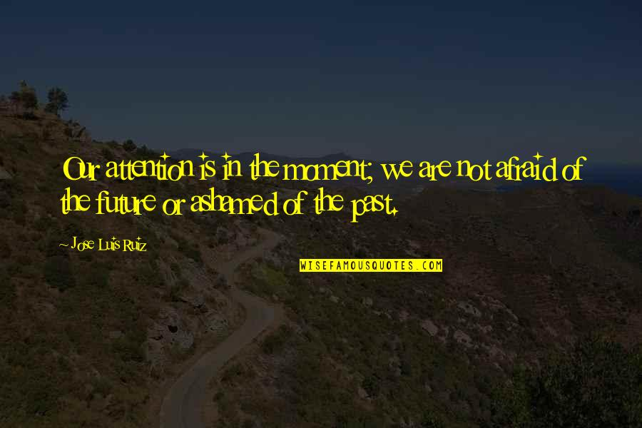 Good Hazing Quotes By Jose Luis Ruiz: Our attention is in the moment; we are
