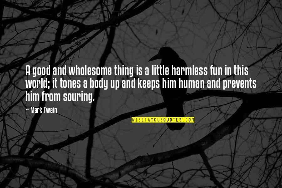 Good Human Body Quotes By Mark Twain: A good and wholesome thing is a little