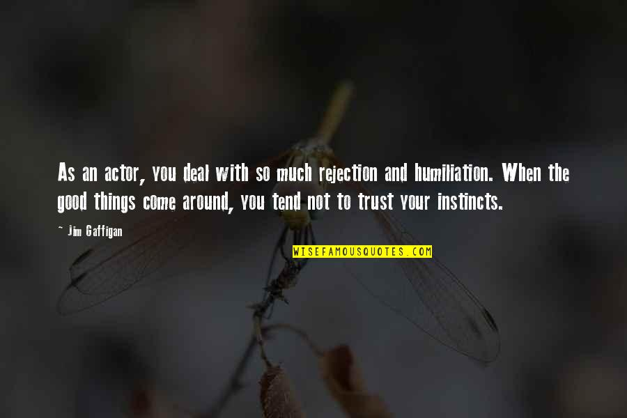 Good Instincts Quotes By Jim Gaffigan: As an actor, you deal with so much