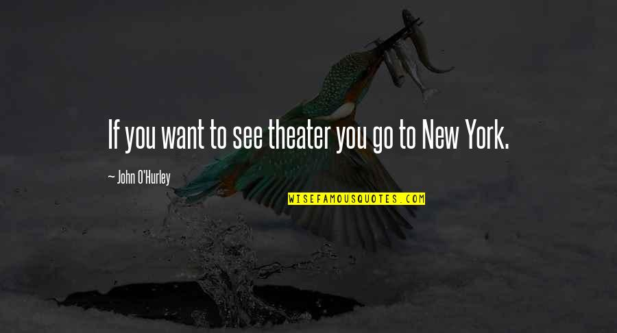 Good Luck In Your Future Quotes By John O'Hurley: If you want to see theater you go
