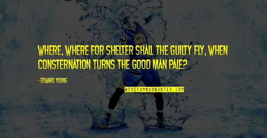 Good Men Quotes By Edward Young: Where, where for shelter shall the guilty fly,