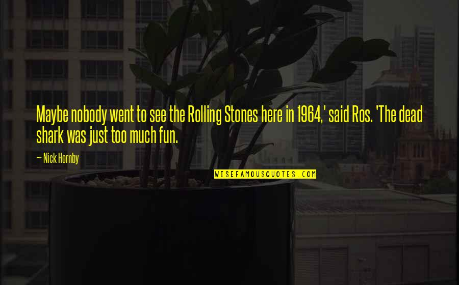 Good Morning Images With Spiritual Quotes By Nick Hornby: Maybe nobody went to see the Rolling Stones