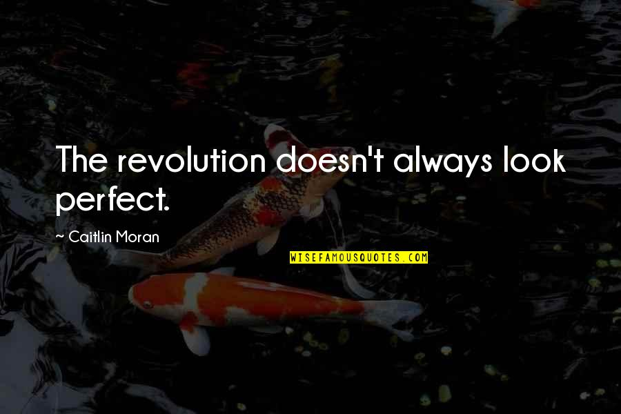 Good Morning Miss You Quotes By Caitlin Moran: The revolution doesn't always look perfect.