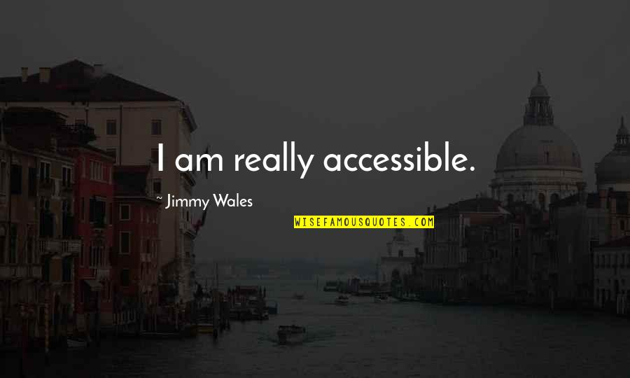 Good Night Rest Quotes By Jimmy Wales: I am really accessible.