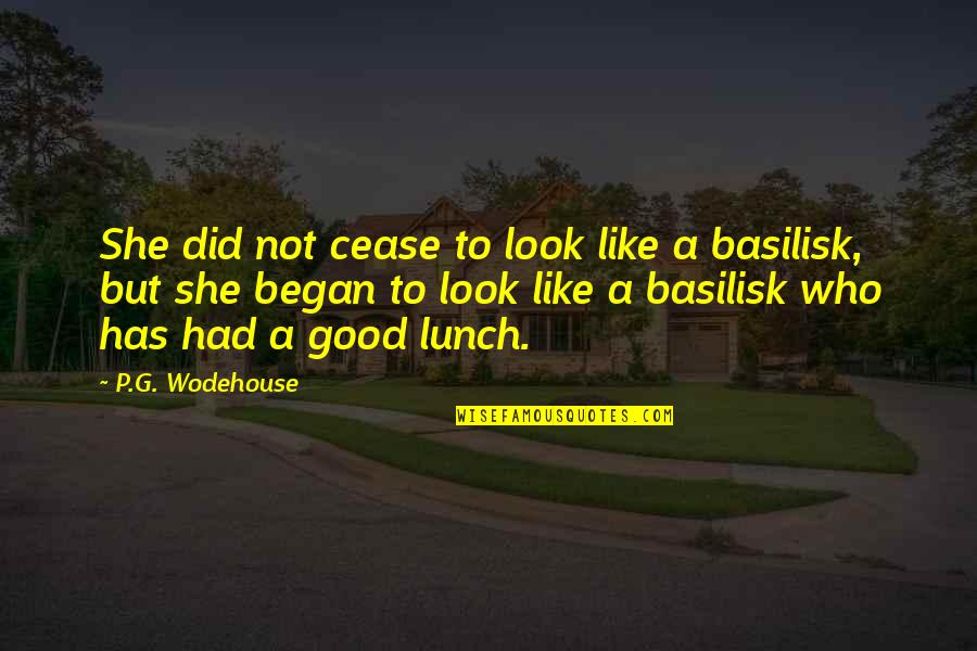 Good P.m Quotes By P.G. Wodehouse: She did not cease to look like a