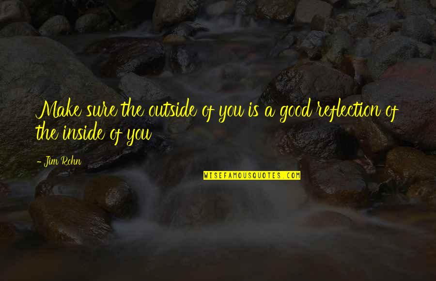Good Personal Quotes By Jim Rohn: Make sure the outside of you is a