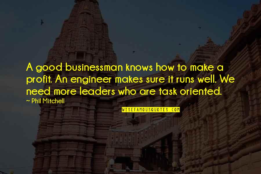 Good Quotes Quotes By Phil Mitchell: A good businessman knows how to make a