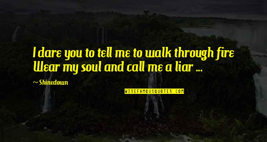 Good Remember Me Quotes By Shinedown: I dare you to tell me to walk