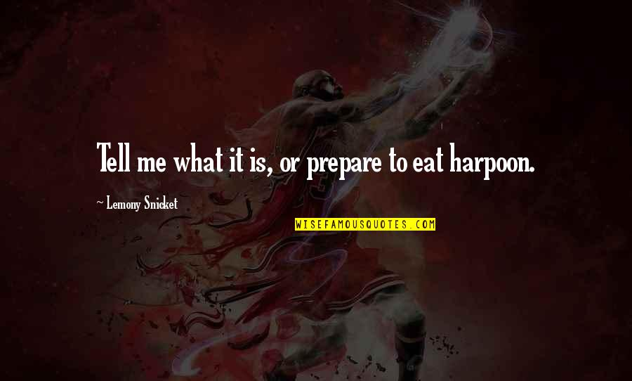 Good Sales Leadership Quotes By Lemony Snicket: Tell me what it is, or prepare to